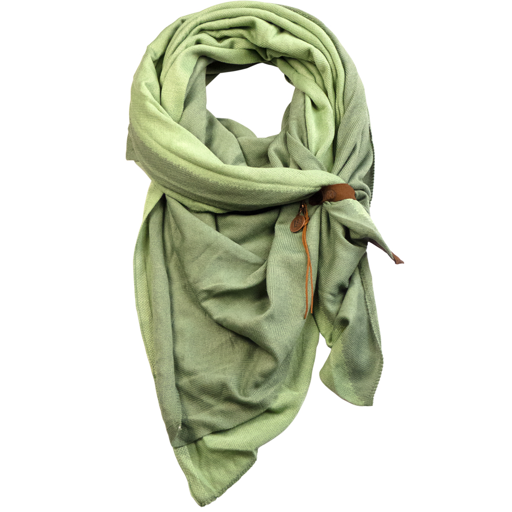 Scarf Fien Twin Lightgreen/green